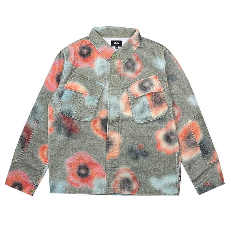 [스투시] STUSSY VELVETEEN JUNGLE LS SHIRT (FLORAL) [1110005-FLOR]