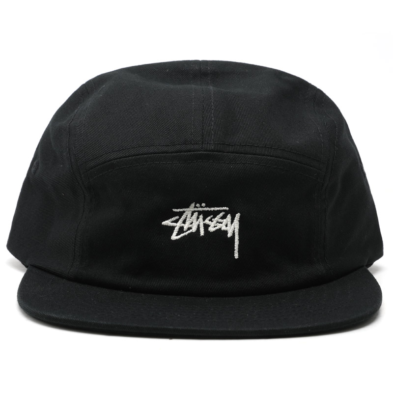 [스투시] STUSSY STOCK CAMP CAP (BLACK) [132884-BLAC]